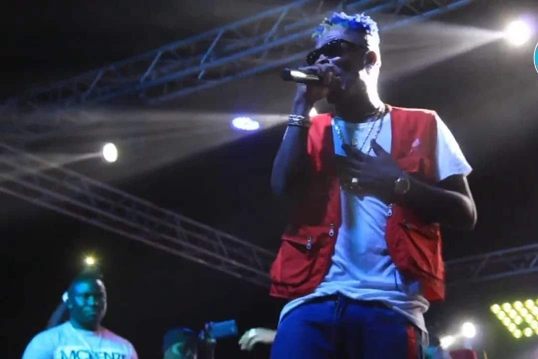 Shatta Wale on stage