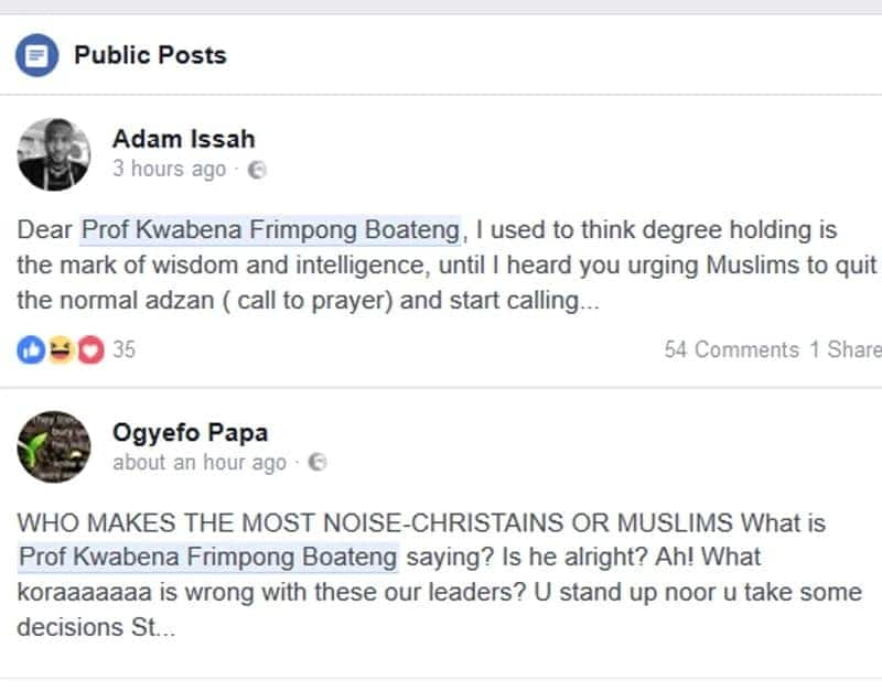 Ghanaians react to Minister's request to Muslims to use Whatsapp for 'call to prayer' comment