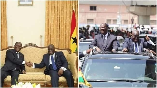 Akufo-Addo decorates President Ouattara with Ghana's Highest State Award