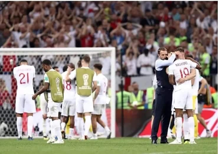 Disappointed England players found solace in their loved ones after Russia 2018 defeat