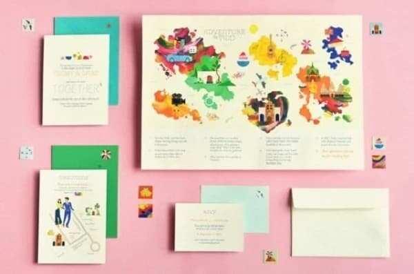Unique wedding invitation card design ideas