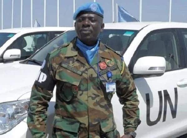 A Ghanaian Miliatry officer