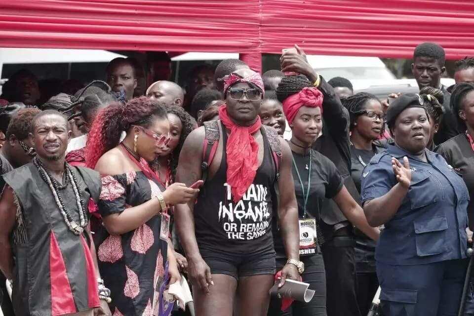 Bukom Banku at the final funeral rites of Ebony