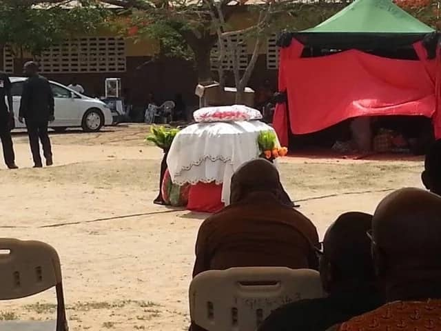 Sad photos from burial of late Ghanaian actress, Gifty Temeng