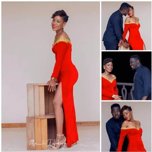 This is a photo shoot of hip life artiste, Stay J and wife