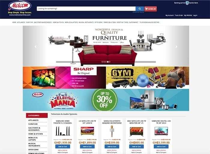 Melcom Ghana online shopping