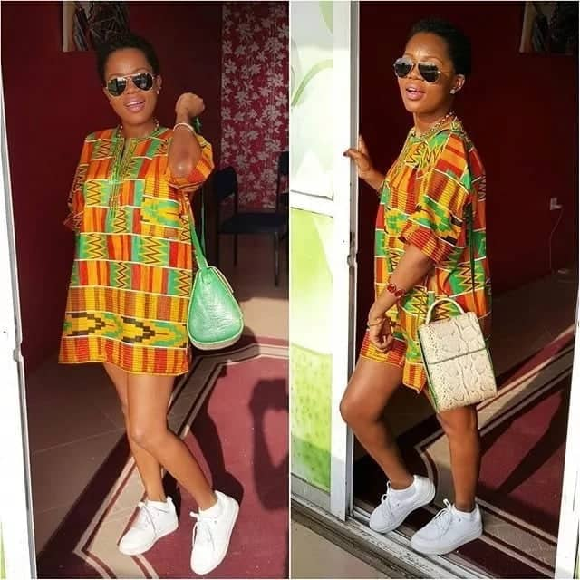 Popular African print dress styles in Ghana