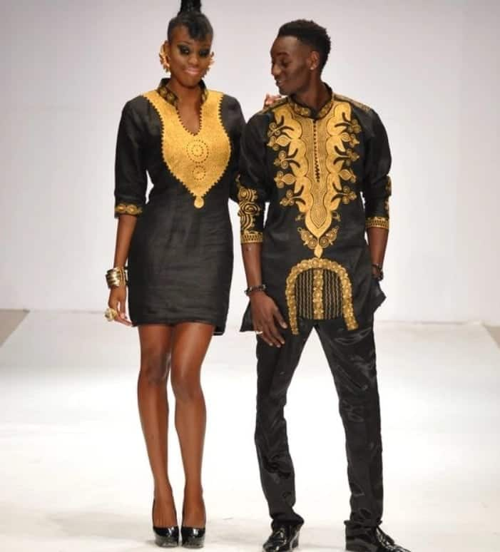 2d8f239290 African Wear for Couples - Black Agbadas