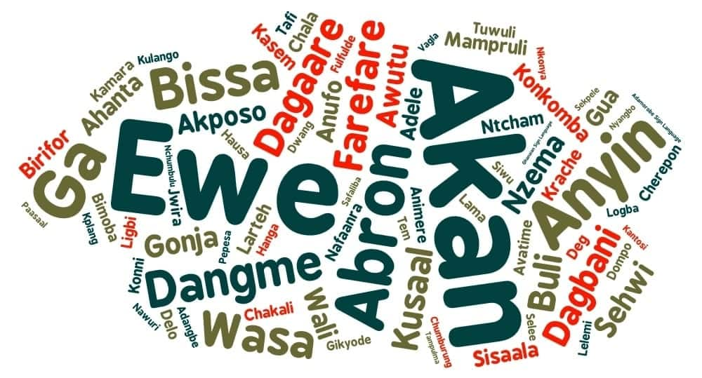 Spoken languages in Ghana