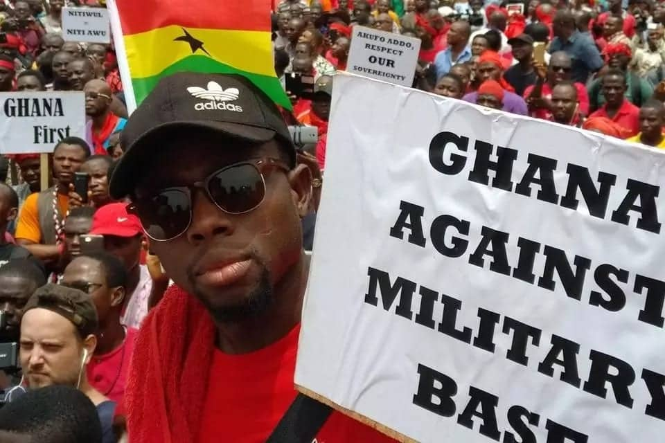 Photos of how demo against Ghana-US military deal shook Accra