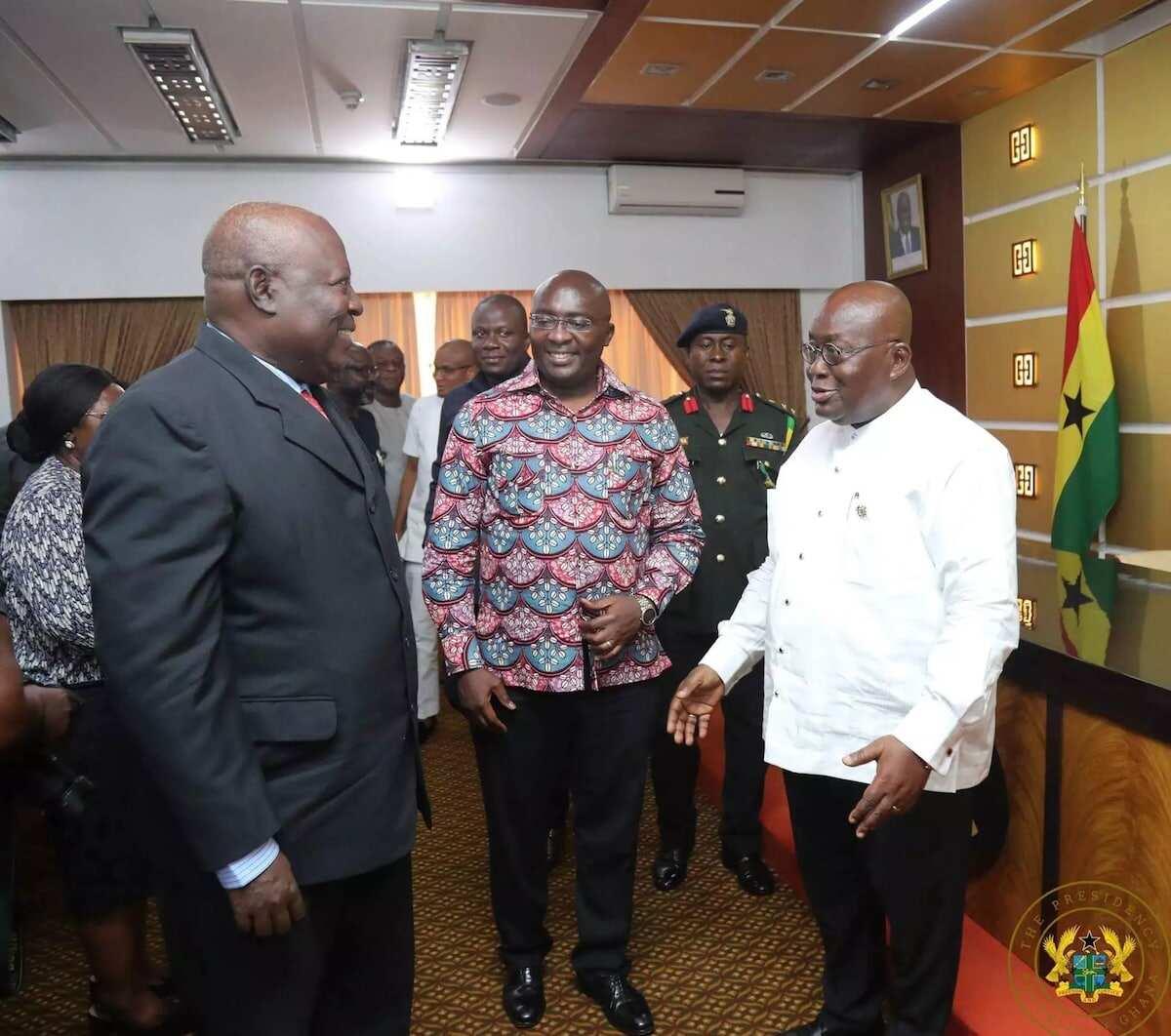 Martin Amidu with Vice President Bawumia and President Akufo-Addo