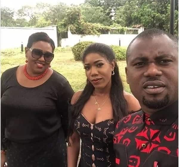 Abeiku Santana and wife spotted at Ebony's funeral