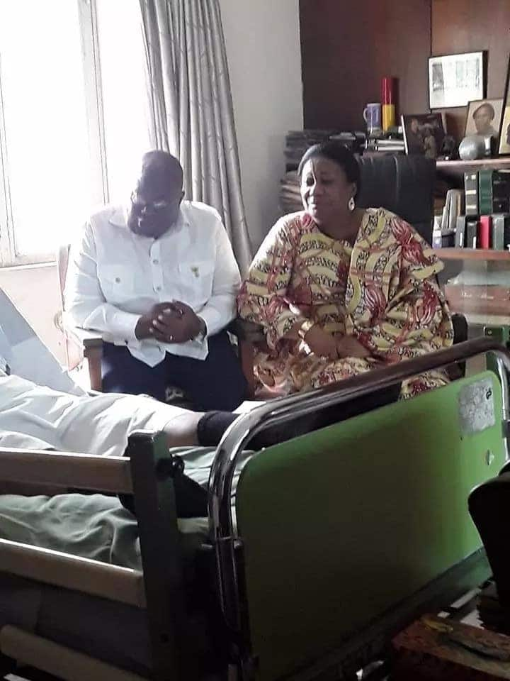 President Akufo-Addo meets Ghana's oldest medical practitioner