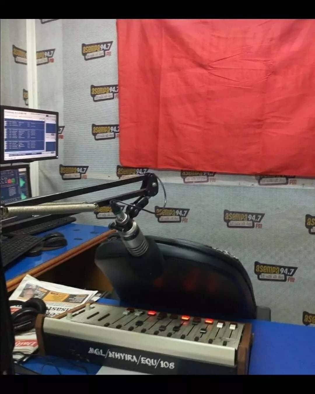 KABA's seat at Asempa studio turned over