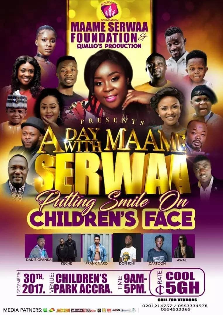 Maame Serwaa set to thrill many children this December with fun-filled event