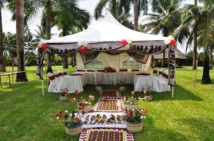 Ghana traditional wedding decoration, african themed wedding