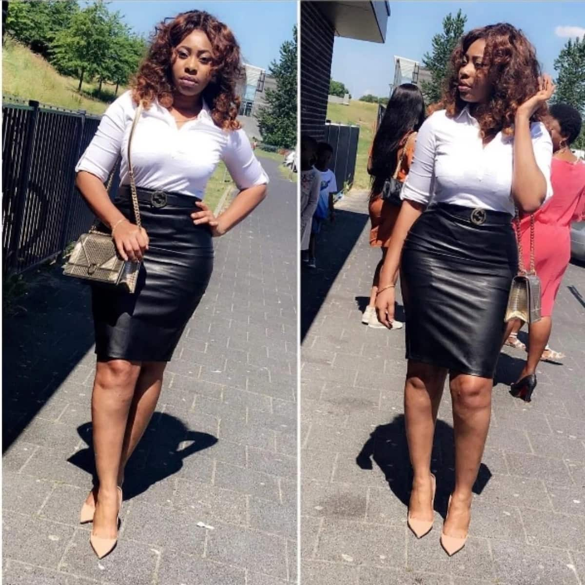 Ex-wife of Afryie Acquah dazzles in new photos as she displays her stunning figure