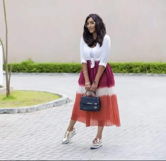 Juliet Ibrahim settles for another beautiful dress in her latest photo