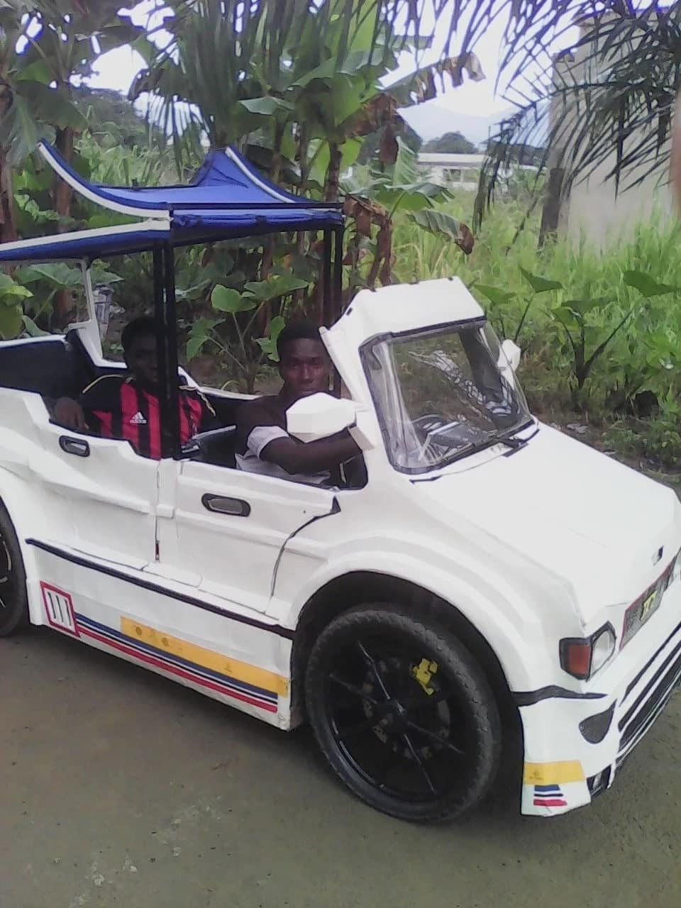 Young innovators: The two Ghanaian brothers who have successfully made a three-passenger car