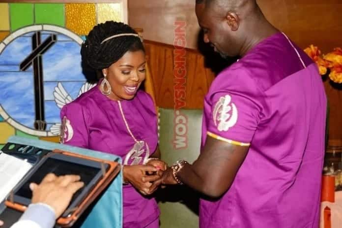 Afia and Abrokwa exchanging marriage vows