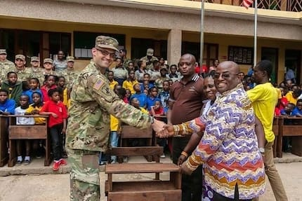 US soldiers donate learning materials to schools in Ghana (Photos)