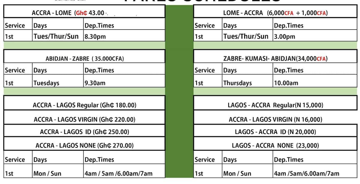 stc ghana bus schedules