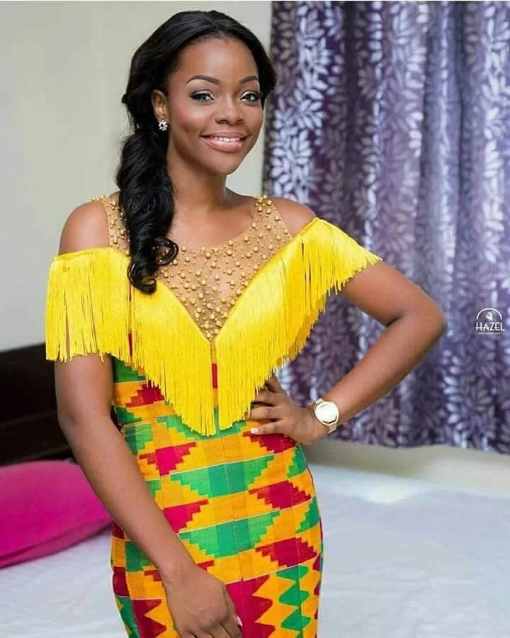 Kente Wedding Gowns: Kente Styles For Occasions YEN.COM.GH