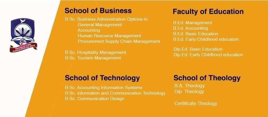 courses offered at christ apostolic university cauc student portal ghana baptist university college christ apostolic church