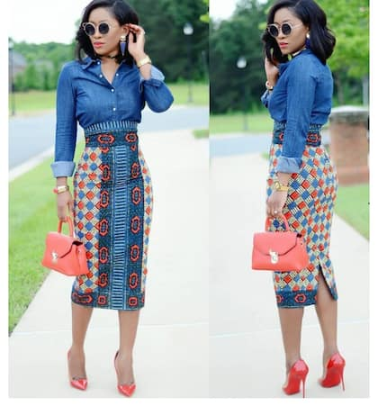 The best African print pencil skirts for the working lady