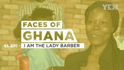 Meet the Ghanaian female barber who is giving the male barbers a tough time (Video)