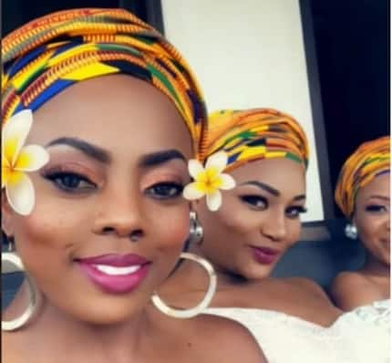 Video of how Nana Aba Anamoah and her friends stormed Sarkodie's wedding pops up