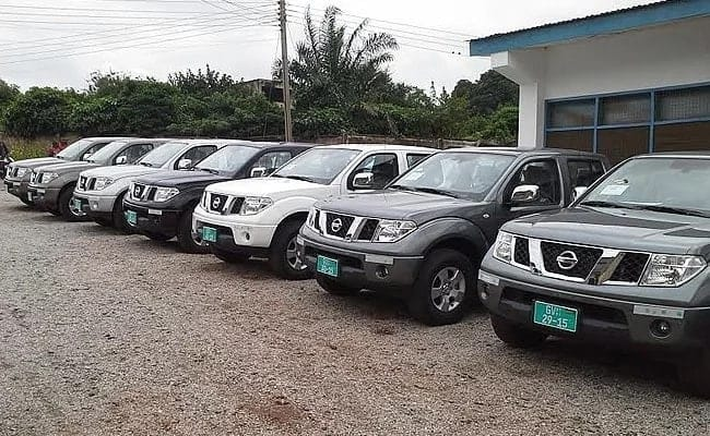 60 plus alleged state vehicles found in Nsawam