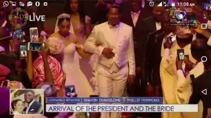 First glance at the white wedding ceremony of Sharon Oyakhilome and Philip Frimpong