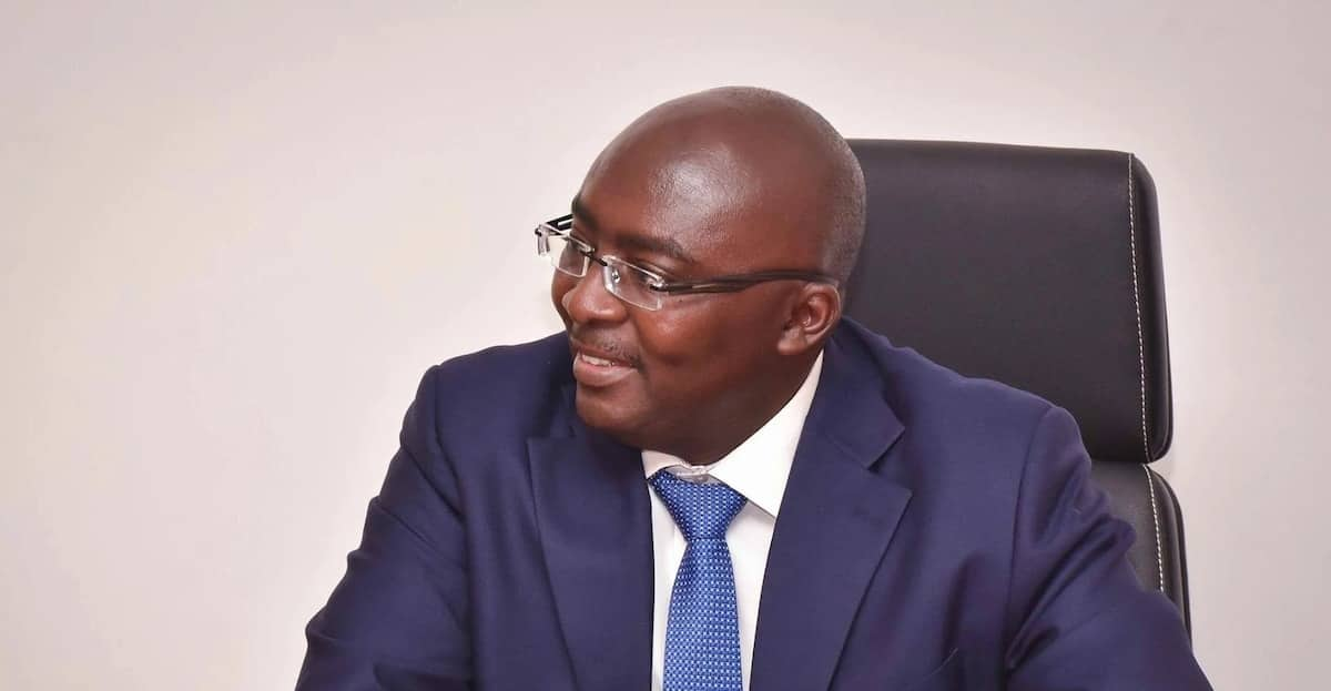 Dr. Mahamudu Bawumia wearing a blue suit
