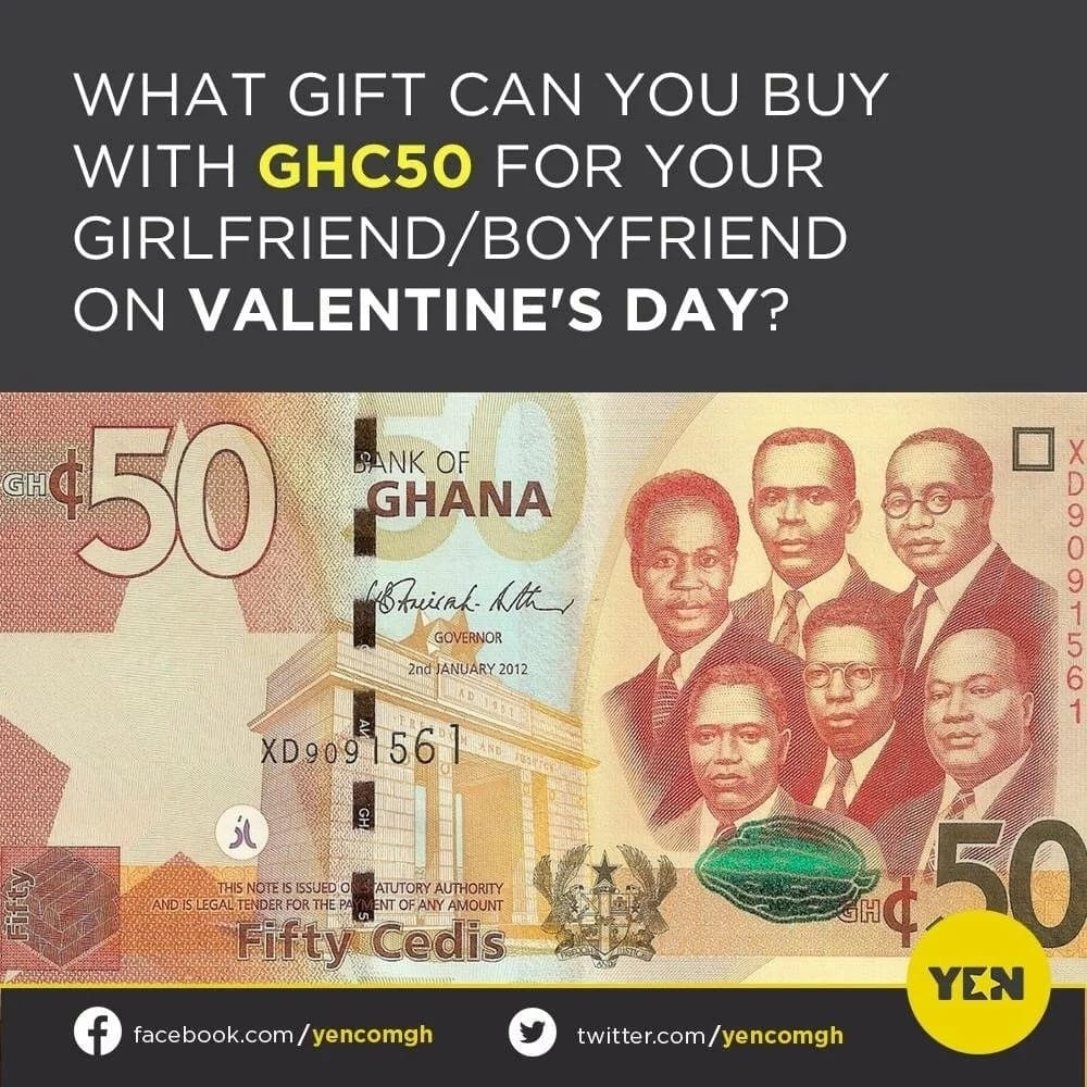 YEN readers state what they can buy for their lovers on Valentine's Day with GHC50