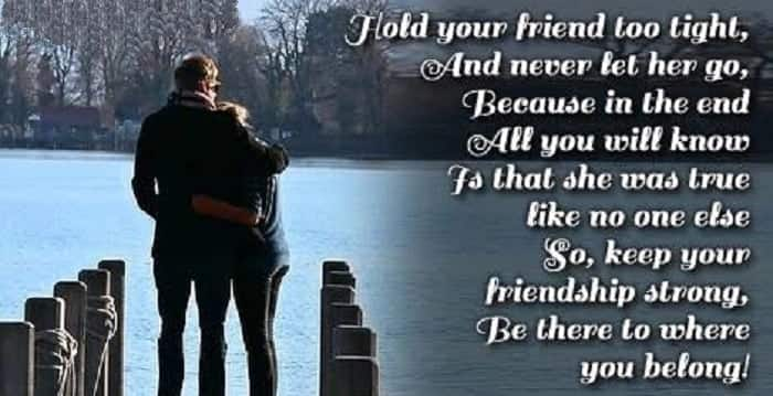 strong friendship messages, friendship sms, simple message for a friend
