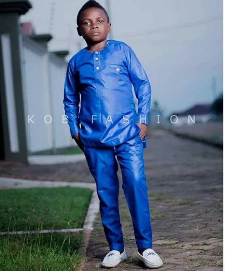 Yaw Dabo in blue clothing