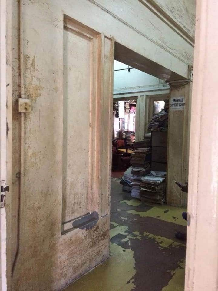 Photos showing the deteriorating state of Ghana's Supreme Court
