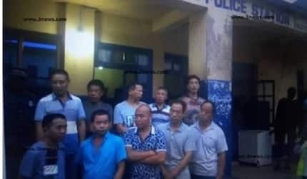Police arrest 10 Chinese over galamsey opposite Tarkwa SHS in Western Region