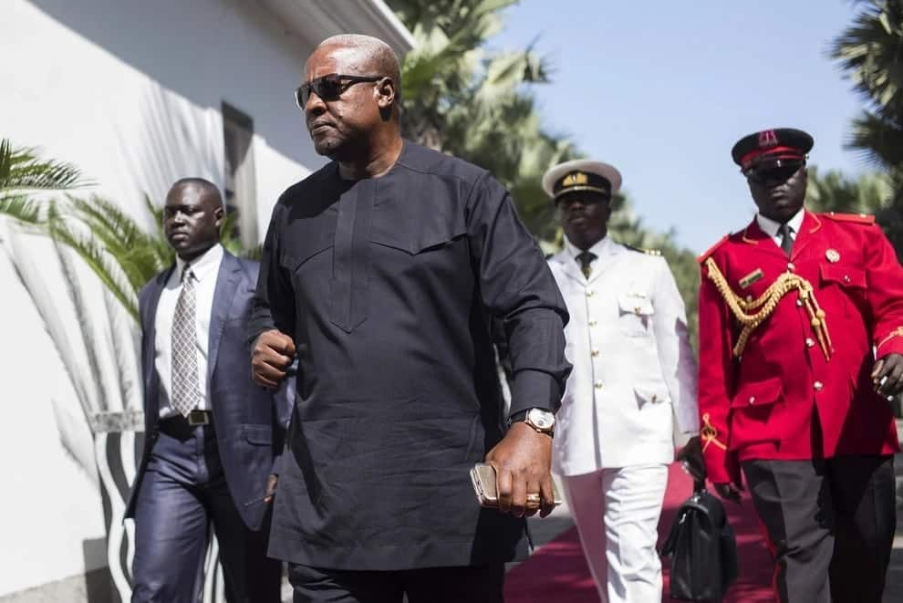 Mahama storms Accra High Court to give moral support to former NDC officials