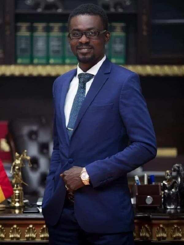 Nana Appiah Mensah, CEO of Zylofon Media wearing dark blue suit
