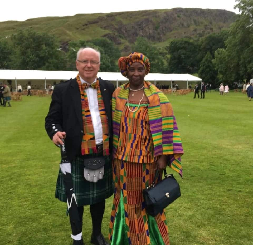 Photo of Scottish professor and Ghanaian wife sparks conversation on interracial relationships