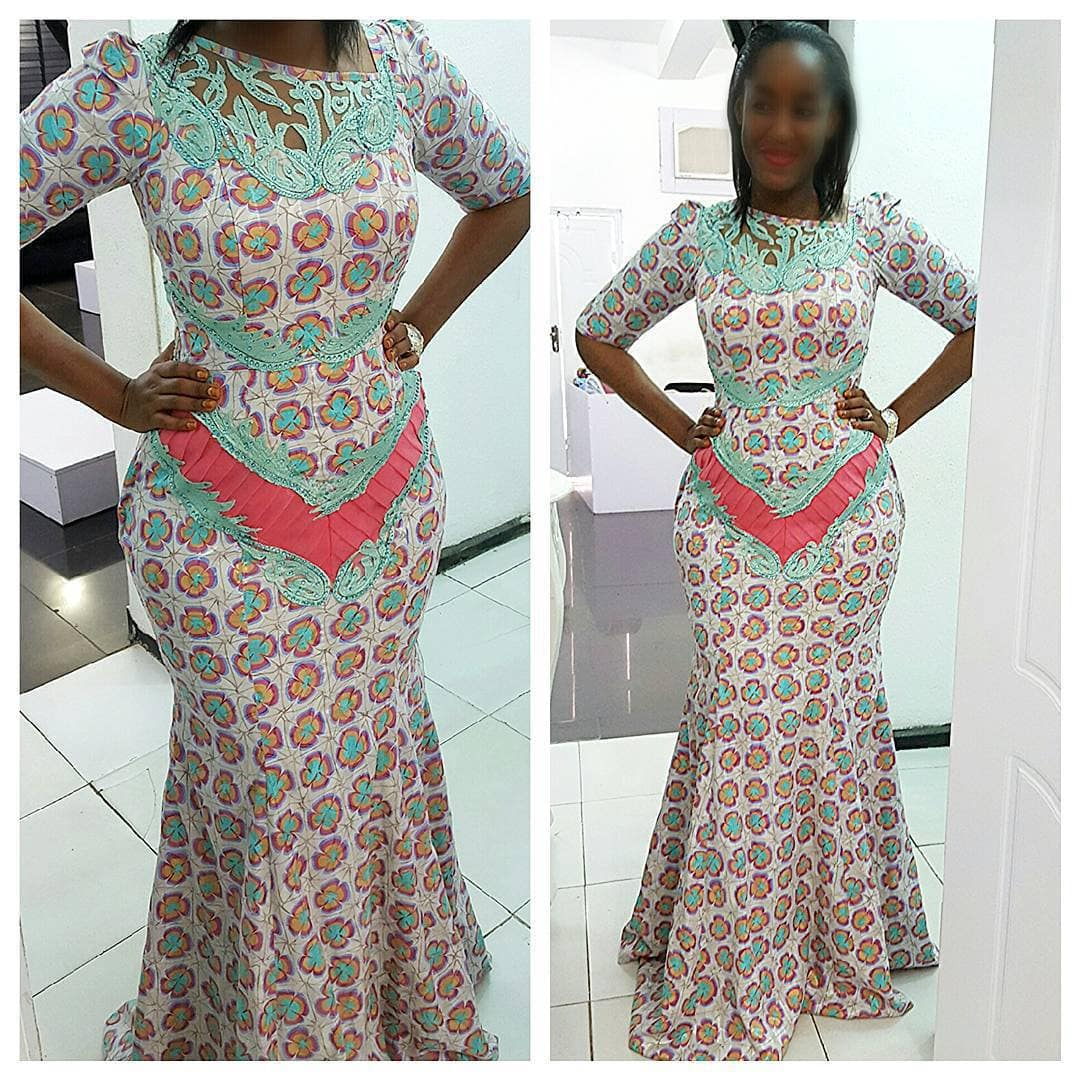recent ankara and lace styles ankara and cord lace combination styles ankara mixed with lace styles
