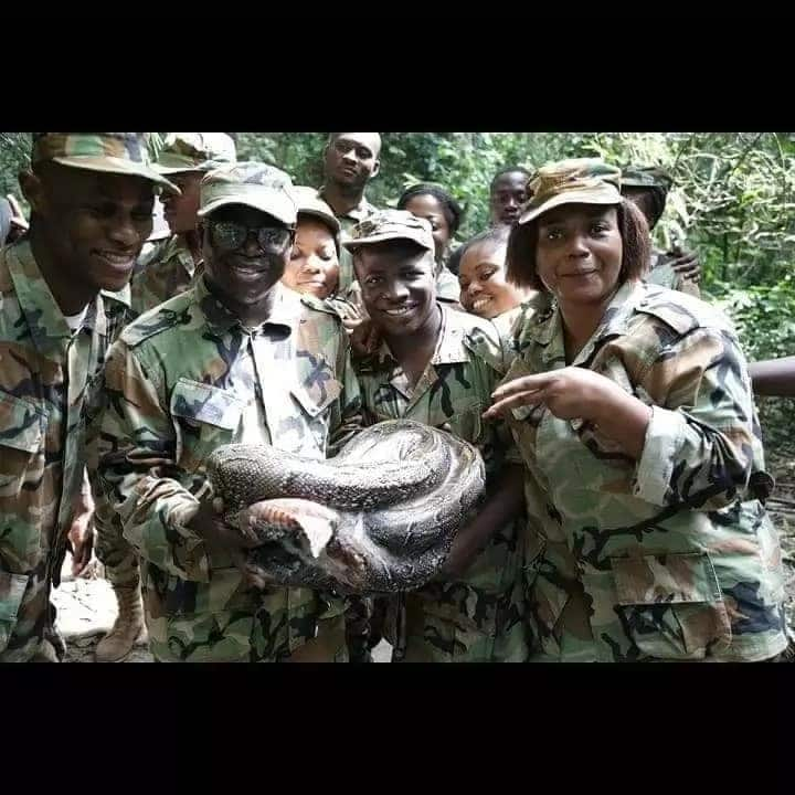 Female soldiers release wild photos as they complete training at Achiase