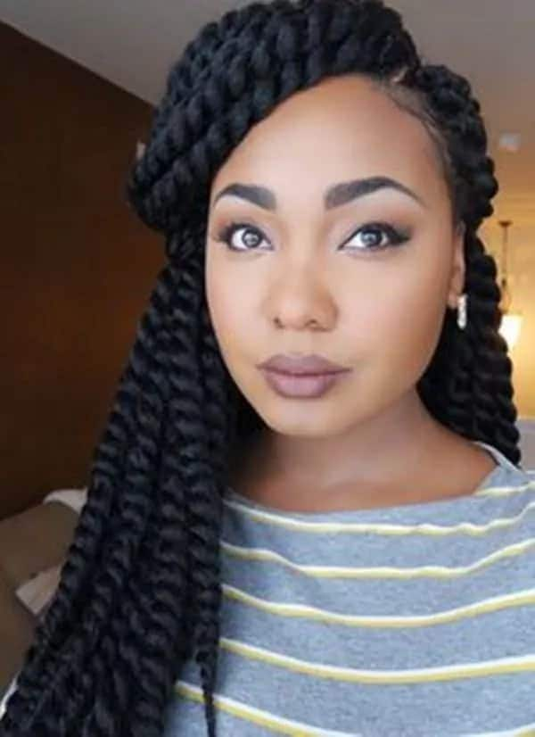 Beautiful afro twist braids hairstyles