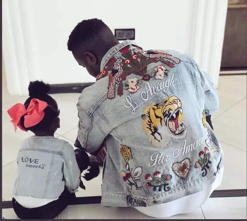 Sarkodie and beautiful daughter spending quality time together