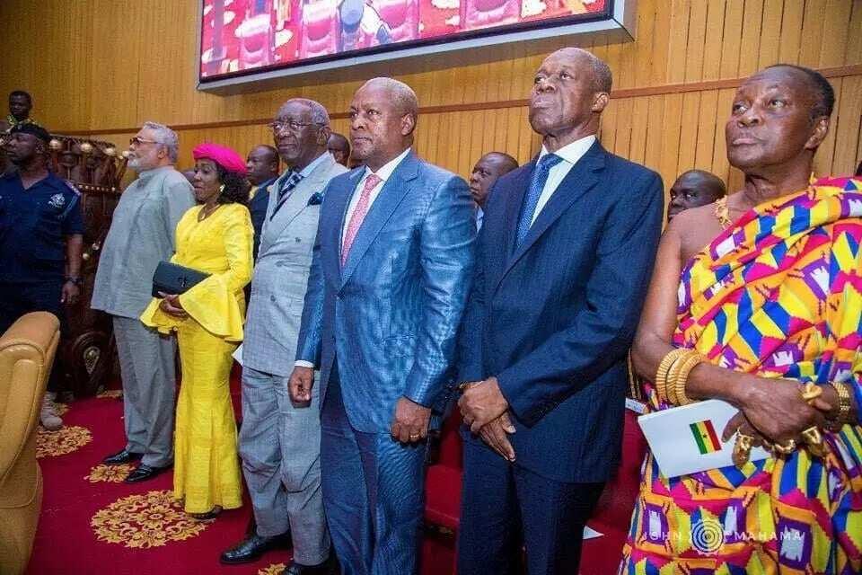 How Mahama and Amissah Arthur stormed parliament for the 2018 SONA