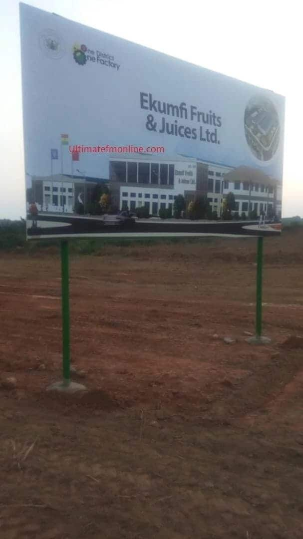 """The first factory under the 1-District, 1-Factory policy will be the """"Ekumfi Fruits & Juices Ltd"""" / UltimateFMOnline"""