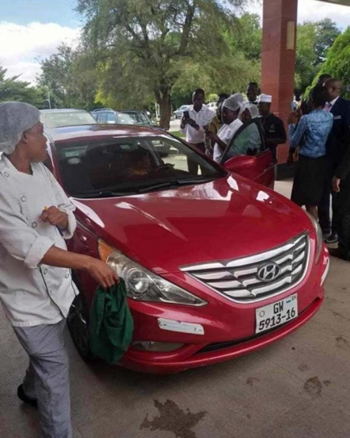 Togolese pastor dashes hotel staff car and GHC 10k fuel coupon
