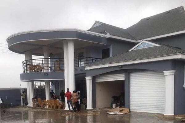 Photos: Ghana striker Patrick Twumasi buys plush house in Accra